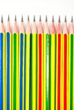 Colorful of black pencils Stock Photos