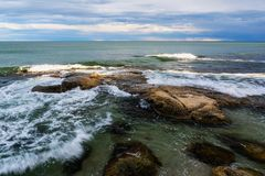 Colorful Black Sea seascape near Ravda village, Bulgaria.  stock image