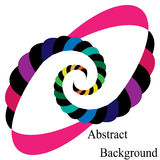 Colorful and Black Striped Spirals Converging to the Center. Elliptical Design Element Royalty Free Stock Photography