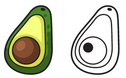 Colorful and black and white avocado Stock Photo