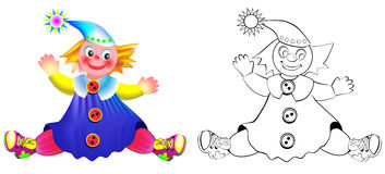 Colorful and black and white pattern puppet. Royalty Free Stock Images