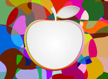 Colorful with blank apple Royalty Free Stock Images