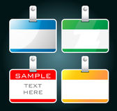 Colorful blank badges Royalty Free Stock Photography