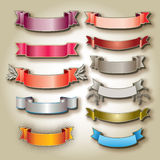 Colorful blank banners Stock Image