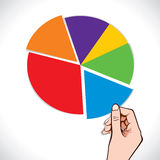 Colorful blank chart in hand stock  Royalty Free Stock Photo