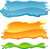 Colorful Blank Paint Banner Stock Photos