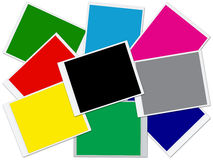 Colorful blank photo frames Royalty Free Stock Photography