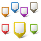Colorful blank pointers on white background. Eps 10 Royalty Free Stock Photo