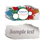 Colorful and blank ripped paper pieces. Colorful and blank vector pieces of paper Royalty Free Stock Photography