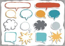 Colorful blank speech bubble set Royalty Free Stock Image