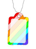 Colorful blank Tag. This is a colorful blank Tag Royalty Free Stock Photos
