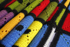 Colorful blanket Stock Images