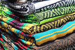 Colorful blankets Stock Image