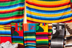 Colorful blankets in souvenir shop, cancun, Mexico Royalty Free Stock Photography
