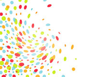 Colorful blast of confettis Royalty Free Stock Photos