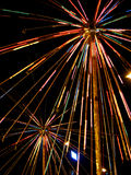 Colorful Blasts. A beautiful display of colorful lights stock photo