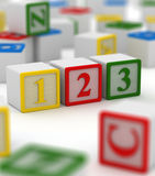 Colorful block - 123 Royalty Free Stock Image