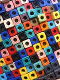 Colorful block with hole. Multi color block with hole texture pattern Stock Image