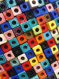Colorful block with hole. Multi color block with hole texture pattern Stock Photos