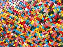 Colorful block patterns. Cross shaped block colorful pattern texture Stock Photo