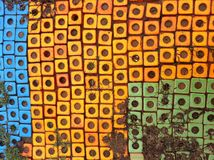 Colorful block patterns. Colorful ground block pattern texture Stock Images