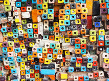 Colorful of block tiles patterns Stock Photo