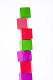 Colorful block. Colorful wooden toy block isolate from white background Royalty Free Stock Photo