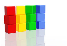 Colorful Blocks Stock Photography