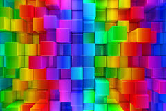 Colorful blocks abstract background Stock Images