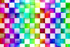 Colorful blocks abstract background. 3d render Stock Image