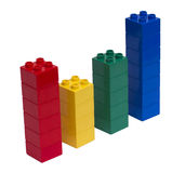 Colorful blocks graph Royalty Free Stock Photography