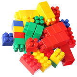 Colorful blocks of meccano Royalty Free Stock Image