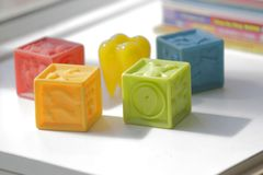 Colorful blocks of number royalty free stock photography