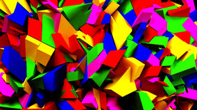 Colorful blocks and pieces background, 3d illustration Royalty Free Stock Images