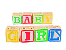 Colorful Blocks Spelling BABY G Royalty Free Stock Photography