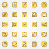 Colorful blog icons collection Royalty Free Stock Images