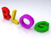 Colorful blog text Royalty Free Stock Image