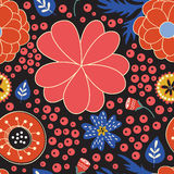 Colorful blooming flowers seamless pattern Stock Image