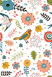 Colorful blooming flowers seamless pattern Royalty Free Stock Photos