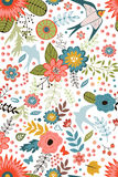 Colorful blooming flowers seamless pattern Royalty Free Stock Image