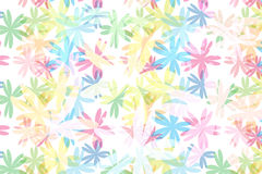 Colorful blossom floral pattern abstract background Stock Images
