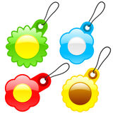 Colorful blossom tag collection Stock Photography