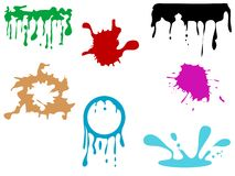 Colorful blots Royalty Free Stock Image