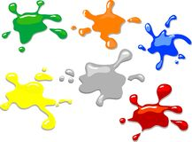 Colorful blots Royalty Free Stock Images