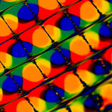 Colorful Blots. Abstract Colorful Blots under distorted square grid royalty free stock photography
