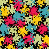 Colorful blots seamless pattern. Stock Images