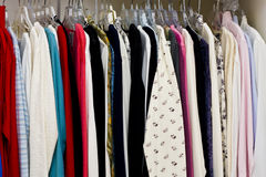 Colorful Blouses and Sweaters Royalty Free Stock Photo