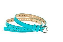 Colorful blue belt on white background Stock Image