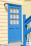 Colorful blue door Stock Images