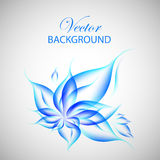Colorful blue flower illustration Royalty Free Stock Photography